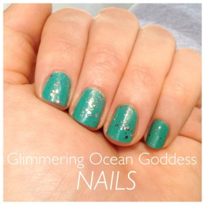 Glimmering Ocean Goddess Nails